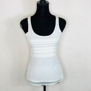 Express Ivory Shimmer Tank Top Blouse Size XS